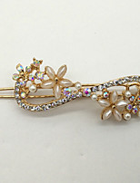 Women Gold Plated / Alloy / Rhinestone / Imitation Pearl Hair Clip,Cute / Party / Work / Casual