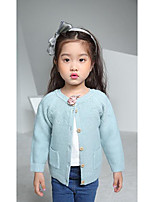 Girl's Casual/Daily Solid Sweater & CardiganWool Winter / Spring / Fall Blue