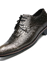 Men's Oxfords Spring / Summer / Fall / Winter Comfort  Casual Flat Heel Rivet / Lace-up Black / Gold Others