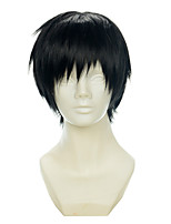 Durarara Orihara Izaya Black All-purpose Upturned Halloween Wigs Synthetic Wigs Costume Wigs