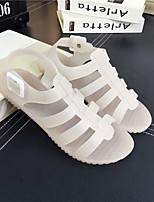 Women's Sandals Summer Comfort PU Casual Flat Heel Others Black / Pink / White Walking