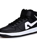 Черный Красный Белый Черный и белый-Унисекс-Для прогулок Повседневный Для занятий спортом-Микроволокно-На плоской подошве-Удобная обувь-