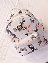 Casual Backpack Women PU White Pink Red Black