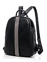 Casual Outdoor Shopping Backpack Women PU Black