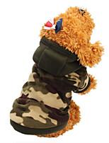Katzen / Hunde Kostüme / Mäntel / Kapuzenshirts / Pullover / Austattungen / Overall Braun / Camouflage HundekleidungWinter / Sommer /