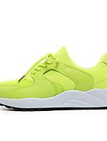 Women's Sneakers Spring / Fall Comfort Fabric Casual Flat Heel  Green / Pink Sneaker