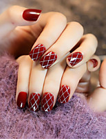 Wine Red Stockings Sexy Nail Strips Restoring Ancient Ways 1Set