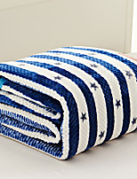 Coral fleece Blue,Yarn-dyed Gingham 70% Acrylic/30% Cotton Blankets S:150*200cm