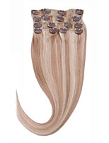 Clip In Human Hair 14-26 100% Virgin Hair Extentions #27/613 Straight Hair Extensions 8A Incomparable
