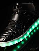 Черный Красный Белый-Мужской-Для прогулок Повседневный Для занятий спортом-Кожа-На низком каблуке-Удобная обувь-Кеды