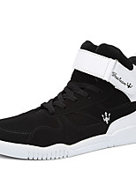 Men's Sneakers Fall Winter Comfort PU Casual Flat Heel Lace-up Others Black Red Gray Black and White