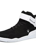 Herren-Sneaker-Lässig-PU-Flacher Absatz-Komfort-Schwarz / Rot / Grau / Schwarz und Weiss