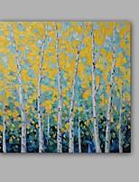Peint à la main Abstrait / Paysage Peintures à l'huile,Modern / Classique Un Panneau Toile Peinture à l'huile Hang-peint For Décoration