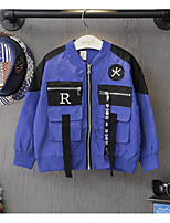Boy's Casual/Daily Print Jacket & CoatPolyester Winter / Fall Blue / Purple / Red / Yellow
