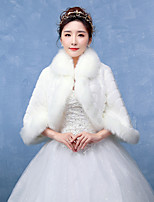 Women's Wrap Shrugs Faux Fur Wedding / Party/Evening Pattern / Wave-like