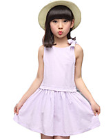 Girl's Going out Solid Dress,Others Summer Pink / Purple / Gray