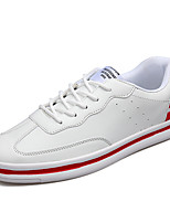 Men's Flats Spring / Fall Comfort PU Casual Flat Heel Others / Lace-up Black / Red / Black and White Walking