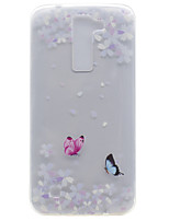 For LG K10 K8 Transparent Pattern Case Back Cover Case Butterfly Soft TPU for K7 Nexus 5X X Power