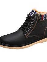 Черный / Синий / Хаки-Мужской-На каждый день-Полиуретан-На плоской подошве-Удобная обувь-Ботинки
