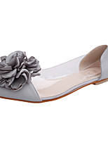 Women's Sandals Summer Jelly PVC Casual Flat Heel Flower Black Pink Gray Walking