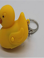 Small Duck Light Emitting Keychain Pendant Electronic LED Lights Flashlight