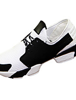 Boy's Athletic Shoes Fall Winter Mary Jane Tulle Outdoor Casual Athletic Chunky Heel Lace-up Black White
