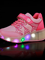 LED Light Up Shoes,Girl's Athletic Shoes Spring Summer Fall Winter Comfort PU Outdoor Casual Athletic Wedge Heel Buckle Black Blue Pink