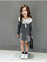 Girl's Going out Solid Dress / Overall & JumpsuitCotton Spring / Fall Gray