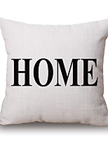 Polyester Decorative Cushion Pillow Cover Print Word Sofa Home Decor 45x45cm