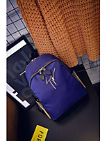 Women Oxford Cloth Casual Backpack Blue / Black