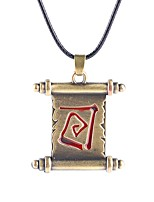 Necklace Dota Book Pendant Necklaces Jewelry Party / Daily Unique Design Alloy Coppery 1pc Gift