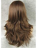 imstyle22''fashion коричневый естественная прямая машина парик синтетическое волокно термостойкий