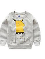 Tee-shirts Boy Couleur Pleine Décontracté / Quotidien Coton Printemps / Automne Gris