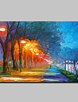 Hand-Painted Knife Landscape Oil Paintings On Canvas Modern Abstract Wall Art Picture For Home Decoration Ready To Hang