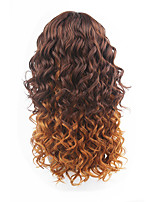 New Style Chestnut Brown Hair Lace Front Loose Wave Synthetic Hair Lace Wigs