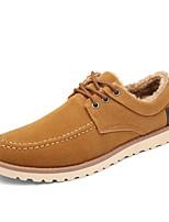 Черный / Синий / Хаки-Мужской-На каждый день-Замша-На плоской подошве-Удобная обувь-Туфли на шнуровке