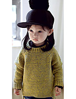 Girl's Casual/Daily Solid Sweater & CardiganCotton Fall Brown / Green