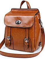 Women PU Casual Backpack Brown / Red / Black