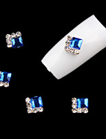 5 Pcs  Nail Art Decoration Rhinestone  Blue