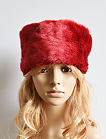 Women Faux Fur Ski Hat Cute / Casual Winter Red / Brown / Khaki