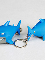 Shark LED Glow Sound Key Chain The Bottom Of The Sea Sea World Exquisite Gift BS - 069