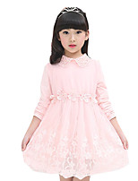 Girl's Going out Solid Dress,Nylon Summer Pink