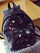 Casual Backpack Unisex PU Black