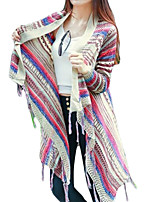 Women's Going out / Casual/Daily / Holiday Sexy / Vintage / Simple Long Cardigan