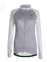 Sports Cycling Jersey Women's Long Sleeve Breathable / Thermal / Warm / Front Zipper / Ultra Light Fabric Bike Jersey