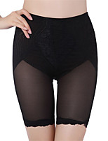Women High Waist Elastic Solid Color Lace Breathable  Underwear Postnatal Slimming Abdomen Seamless Boxer Shorts Pants