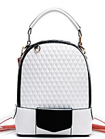 Women PU Casual Backpack White