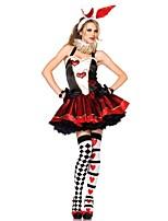 Costumes de Cosplay / Costume de Soirée Animal Fête / Célébration Déguisement Halloween Noir Imprimé Robe / CoiffureHalloween / Carnaval