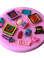 1 Pečení Nepřilnavý / Šetrný k životnímu prostředí / DIY / pečení nástroje / 3D / Vysoká kvalitaChléb / Dorty / Sušenky / Cupcake / Koláč