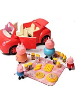 Pretend Play Model & Building Toy Pig Plastic Red For Kids